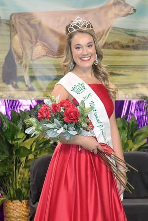 Gracie Krahn, an 18-year-old high school senior at Santiam Christian High School in Adair Village, Ore., was crowned the 62nd National Jersey Queen by the American Jersey Cattle Association. She will promote the breed and U.S. dairy industry at events across the country. (Courtesy American Jersey Cattle)Association